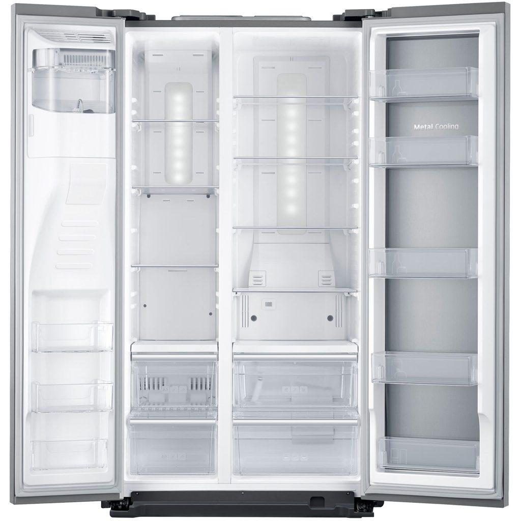 Двукрилен хладилник Side by side Samsung RH56J6917SL, 555 л, Клас A+, No Frost, Височина 180 cм, Сребрист
